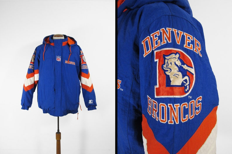 Vintage Denver Broncos Starter Jacket Pro Line Football Warm image 0
