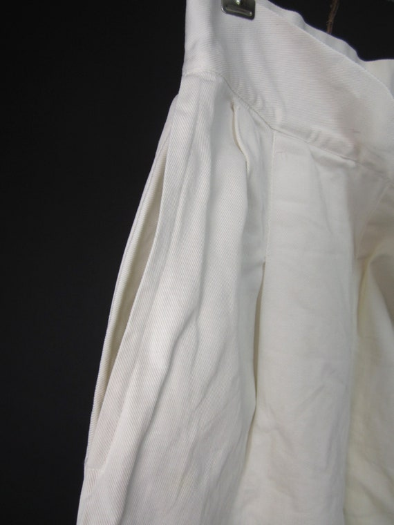 Vintage 30s 40s White Shorts High Waisted Wide Le… - image 6