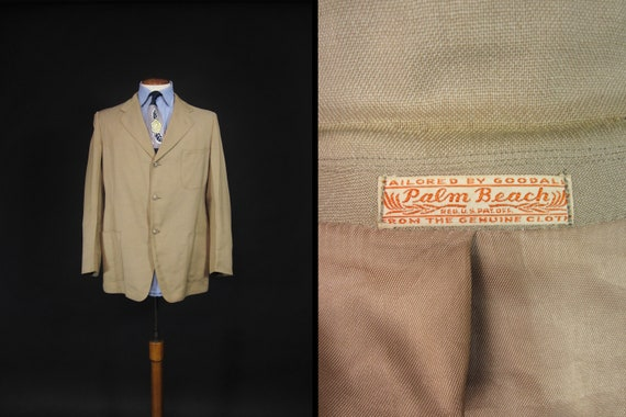 Vintage 40s Palm Beach Suit Jacket Sportcoat Wool