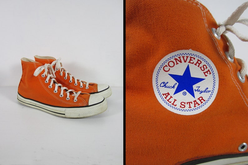a6c0eae89c1f Vintage Converse Chuck Taylor Sneakers Made in USA Orange