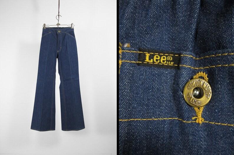 b736c482 Vintage Lee Bell Bottom Jeans NOS Women's Dark Wash Denim | Etsy