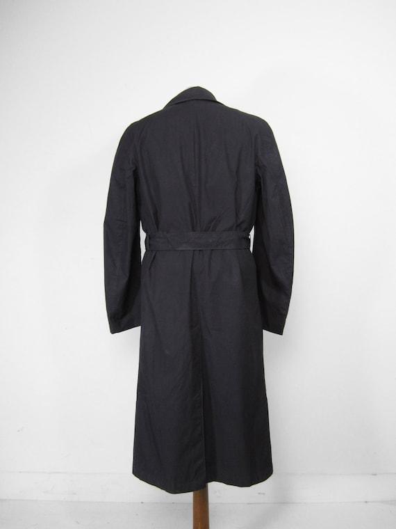 Vintage WW2 Raincoat US Navy Trench Coat Midnight… - image 8
