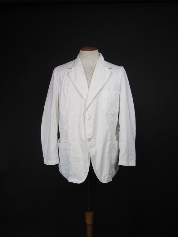 46 Chest Vintage Doctor/'s Lab Coat White Lab Coat Size Large Mr Stethoscope Barco Men/'s Costume Halloween Costume