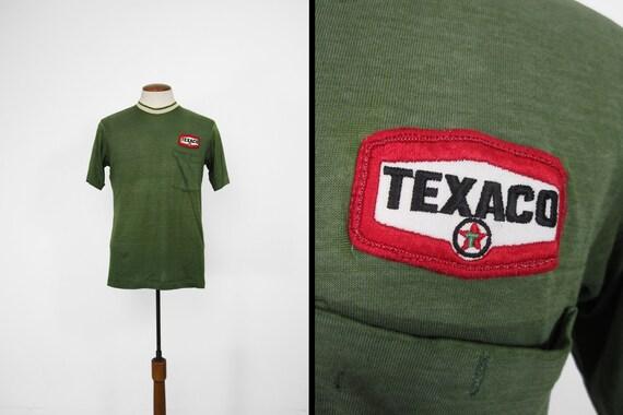 Vintage Texaco Mechanic T-shirt Paper Thin Green P