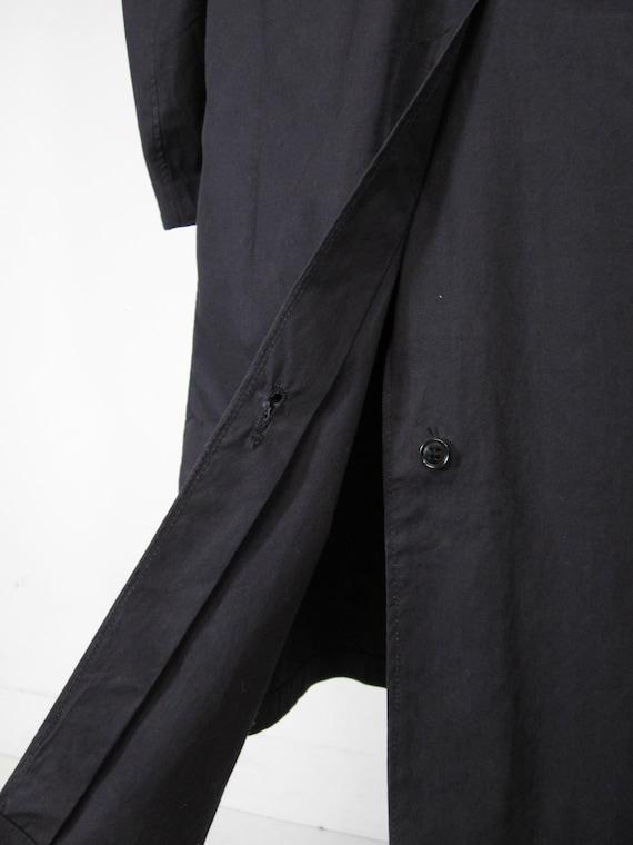 Vintage WW2 Raincoat US Navy Trench Coat Midnight… - image 9