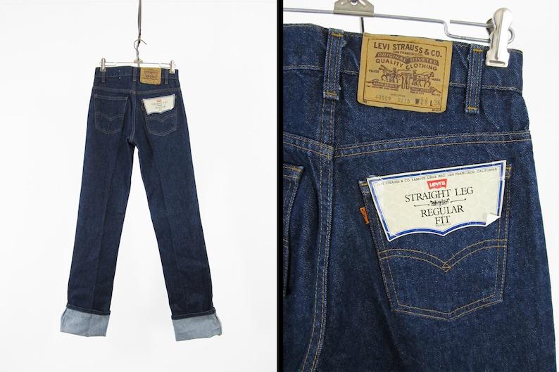 c43d3101 Vintage NOS Levi's 509 Jeans Deadstock Denim 80s Orange | Etsy