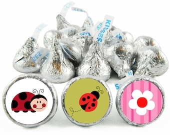 30 Ladybug Hugs STICKERS Envelope Seals Labels Thank You Stickers Party Favors