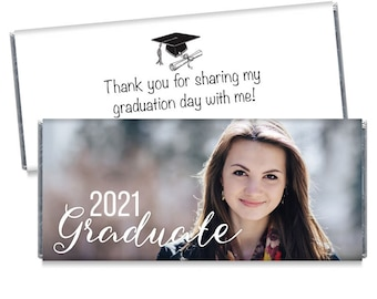 Graduation Graduate Confetti Party Candy Wrappers Favors Personalized Custom Design ~ We Print and Mail to You
