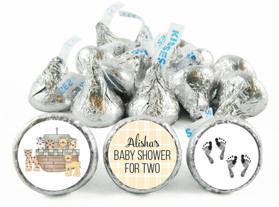 108 ITS A GIRL BABY SHOWER NOAHS ARK HERSHEY KISS KISSES CANDY LABELS FAVORS