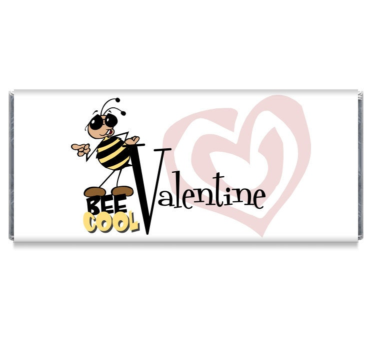 Bee Cool Saint - Valentin Valentin Valentin personnalisé emballages Bar à bonbons - Bee Cool la Saint-Valentin faveur documents c1f9ac