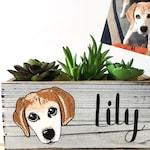 Dog Portrait Planter - Custom Dog Lover Gift - Personalized Pet Planter - Dog Loss Memorial - Dog Mom - Dog Dad