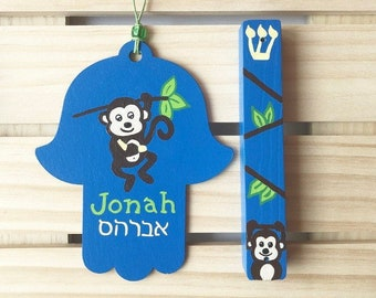 Personalized Hamsa,Florally Ornamented Boho Sign Address Tags