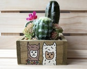 Llama Lovers, Llama Cactus Plant, Llama Decor, Cute Llama Gift, Funny Plant, Small Gifts, Fake Plant, Artificial Cactus, Small Plants