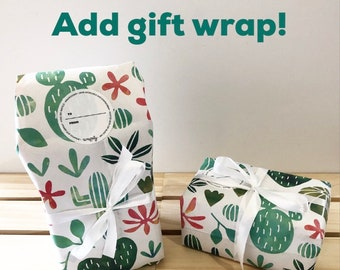 Gift Wrapping Add On for Planters/Bins and Faux Succulents // Succulent Gifts, Gifts for Gardeners, Gifts for Plant Lovers, Cute Planters