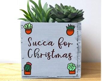 Christmas Succulent Planters.Christmas Succulents Etsy