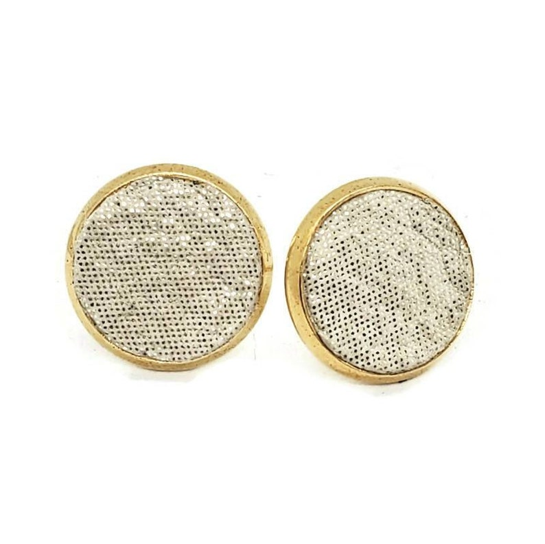 Leather stud earrings gold collection super lightweight hypoallergenic earrings by Hammered Love Letters