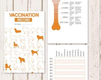 Printable Dog Vaccine Health Record