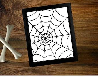 Halloween Spider web printable
