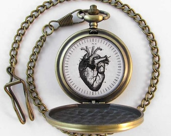Anatomical Heart Pocket Watch