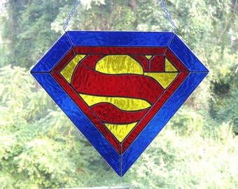 Superman Stained Glass