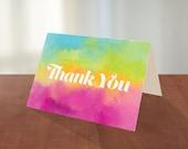 Thank You card, 5x7 Folde...