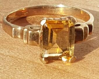 10k gold citrine ring