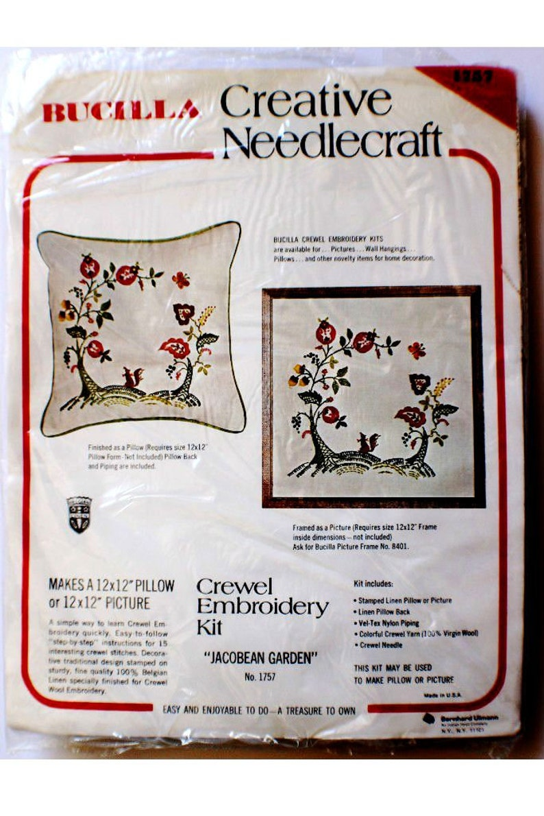 Tree Dimensions Needlecrafts Crewel Embroidery