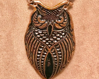 Copper owl pendant
