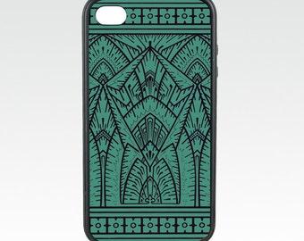 Art Deco Teal Empire iPhone Case fits iPhone /6s, iPhone SE - 1, iPhone 5C, iPhone 5/5s, iPhone 8 Plus, iPhone 7 Plus, iPhone 6 Plus
