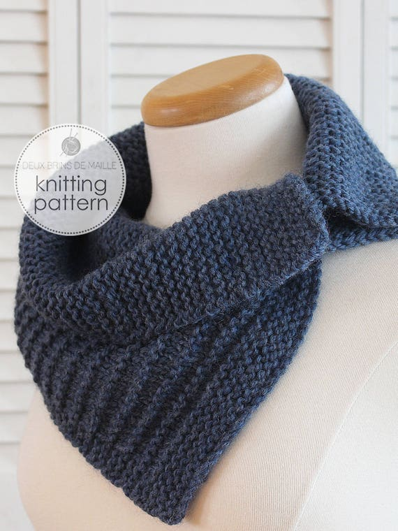 Knitting Pattern Scarf With Buttons Knitting Pattern Cowl