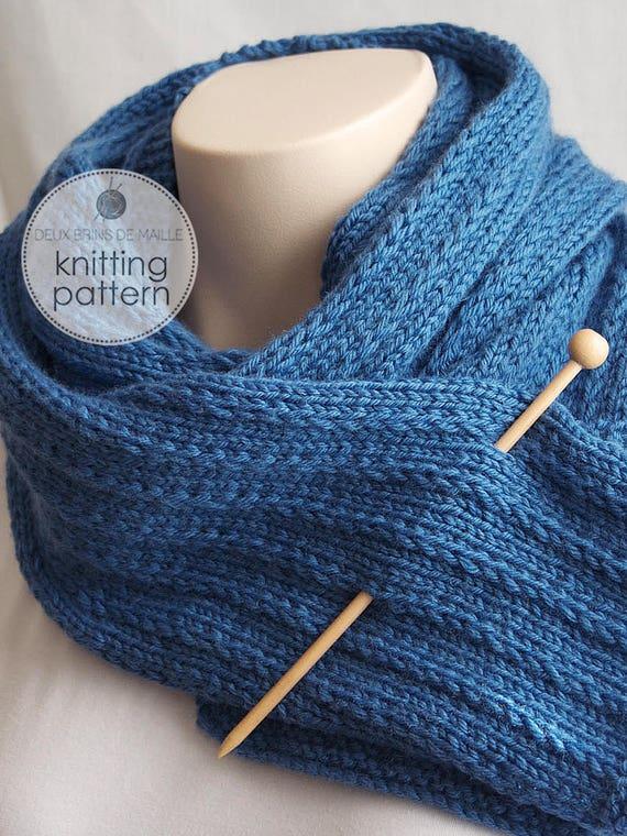 Knitting Pattern Scarf Knit Scarf Knit Patterns Scarf Etsy