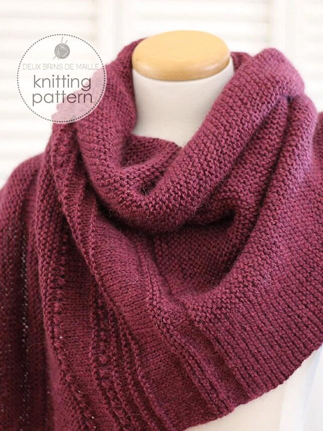 Knitting Pattern Shawl Asymmetric Shawl Pattern Knitting Etsy