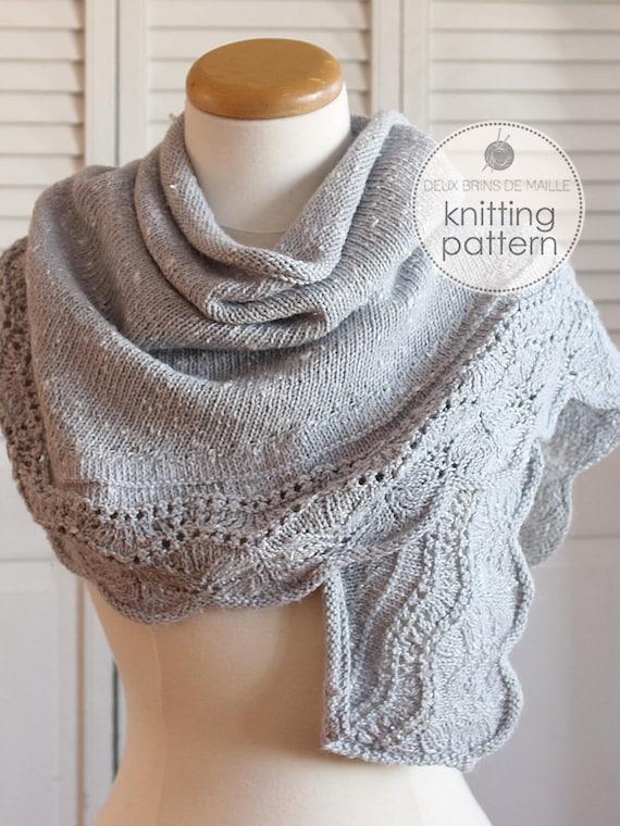 Knitting Pattern Shawl Crescent Shawl Pattern Knitting Etsy