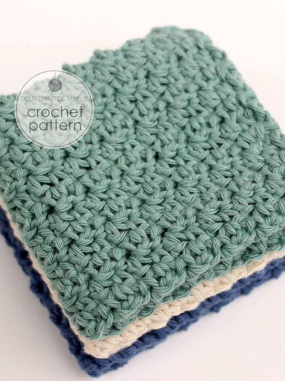 Crochet Washcloth Pattern Crochet Dischcloth Pattern Crochet Etsy