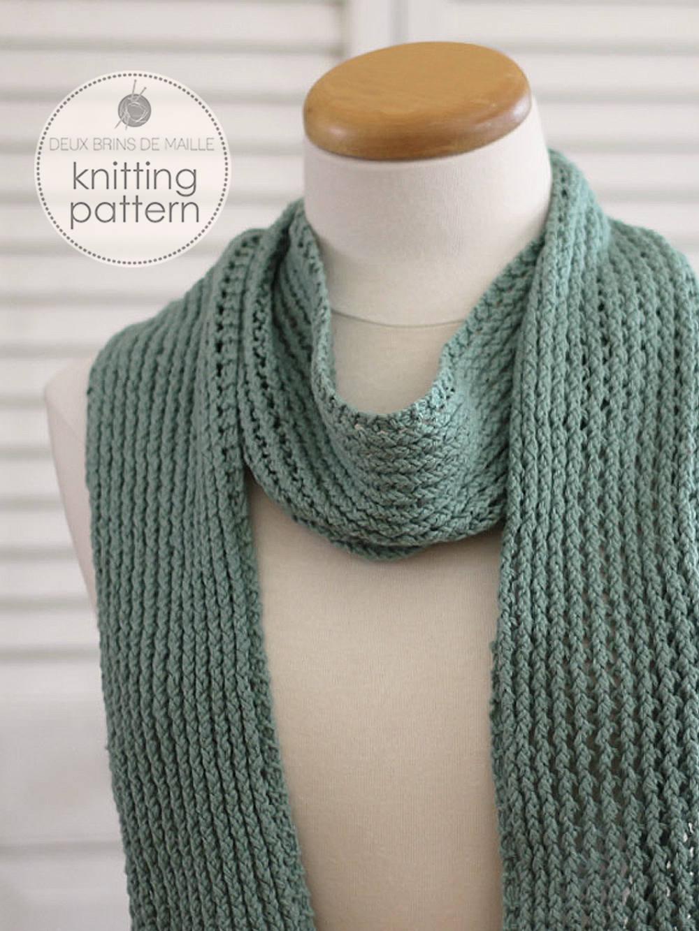 Knitting Pattern Scarf. Knitting Pattern. Knit Scarf. Knit Patterns ...