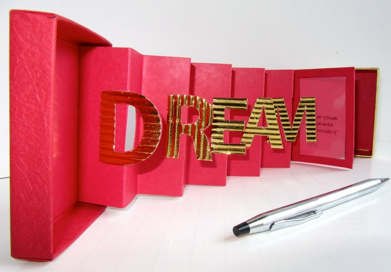 DREAM INSPIRATION Card in a Box With a QUOTe Original Design image 0