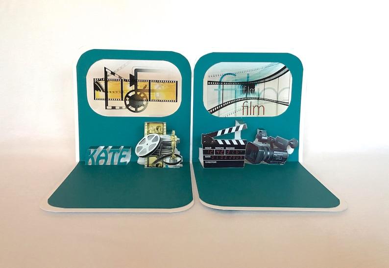 FILM COLLEGE GRADUATE CONGRATULATIONs GREETiNG CaRD 3D Pop Up image 0