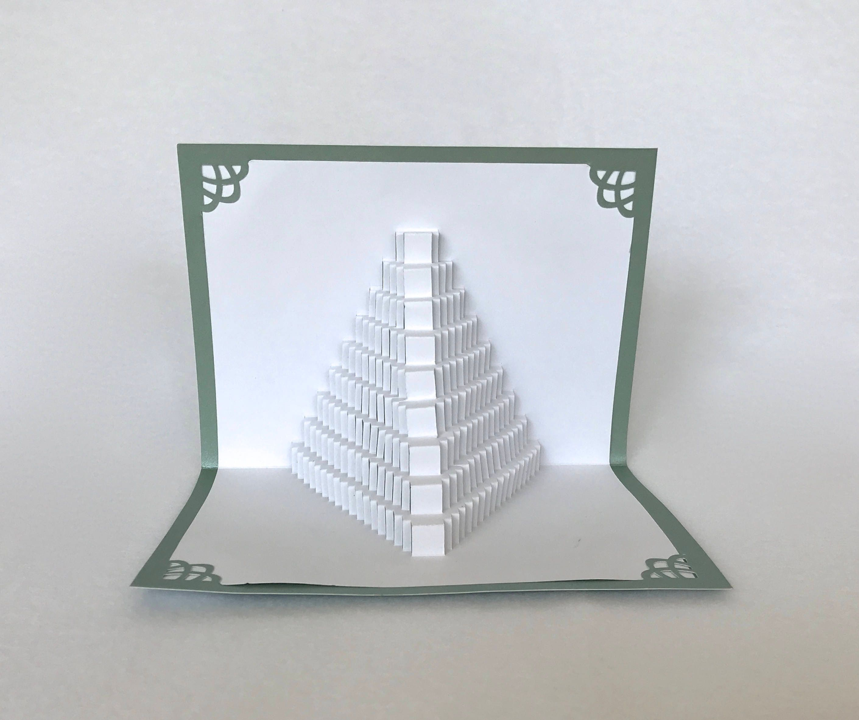 3D Pop Up STAIRS 2 LOVE Shaped like a Pyramid Origamic