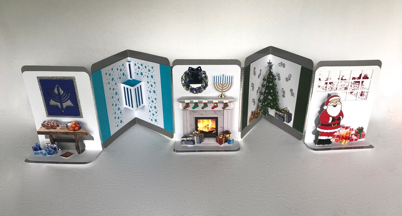 INTERFAITH JEWISH/CHRISTIAN Accordion Pop Up Book-Card image 0
