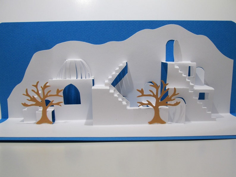 Mediterranean Landscape ORIGINAL DESIGN 3D Pop up Card Home image 0