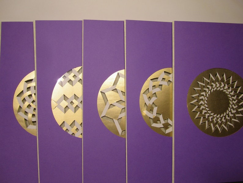 GREETING CARDS HANDMADE w/Intricate Cuts in Gold Embossed image 0