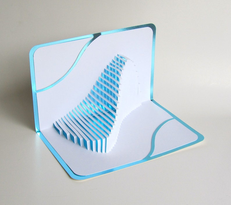 FATHERS DAY Gift Pop Up Home Décor 3D The WAVE Handmade Cut image 0