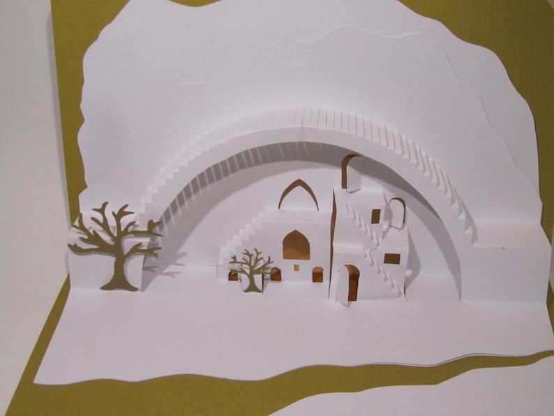 Mediterranean Landscape 3D Pop up Card ORIGINAL DESIGN of image 0