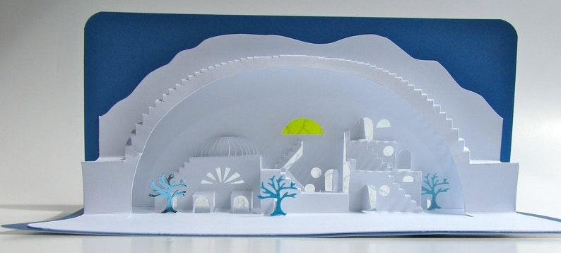 Greek Islands ORIGINAL DESiGN 3D Pop Up Model of a Village image 0