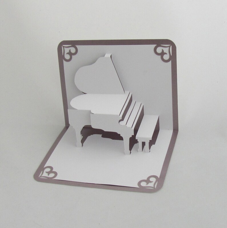 GRAND PIANO 3D Pop Up Card Origamic Architecture Home image 0