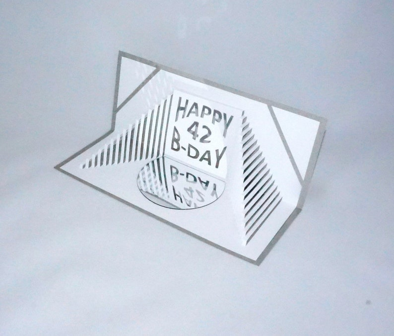 Happy  B-Day Custom Order STAIRS 2 Love Pop Up 3D Card image 0