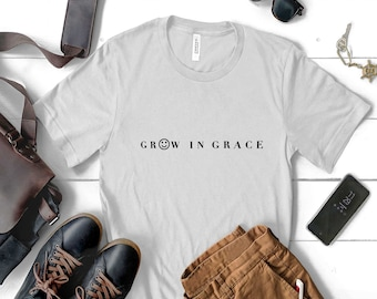 grow in grace , grow in grace shirt ,christian shirt,Vintage T Shirt,gift for christian , religious crew neck,inspirational tee, unisex