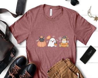 Halloween Shirt,Peace Love Boo Shirt, Spooky Shirt,Funny Halloween Shirt,Cute Halloween Shirt,Halloween Party Shirt,Family Halloween Shirt
