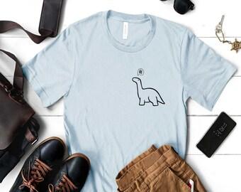 Dinosaur T Shirt, Dinasour Pocket TShirt, Brontosaurus T-Shirt, Jurassic T Shirt, Dino TShirt, Cute Dinosaur Shirt, Brachiosaurus Shirt