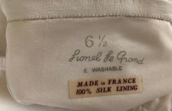 """22""""//Long //White Kid Leather silk lined Gloves /… - image 3"""